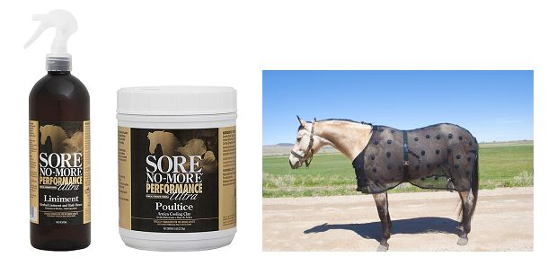 Sore No-More Performance Ultra Liniment & Poultice Next to Benefab SmartScrim Sheet